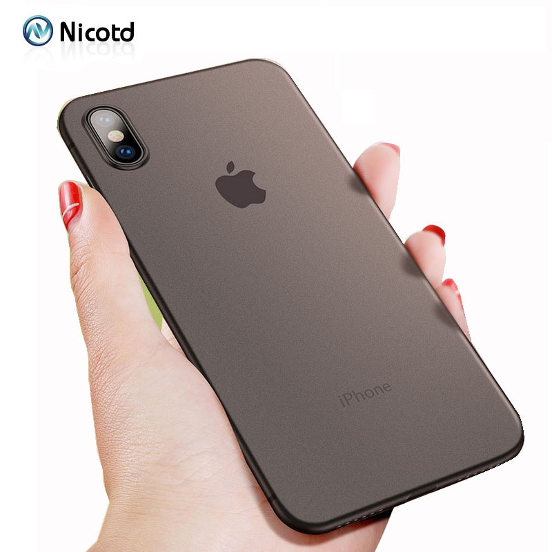 Ultra Thin Matte Phone <font><b>Cases</b></font> For <font><b>iPhone</b></font> <font><b>7</b></font> Plus 8 <font><b>Case</b></font> Cover For <font><b>iPhone</b></font> 6 6s 8 Plus <font><b>Cases</b></font> for <font><b>iphone</b></font> X 10 0.3mm Phone Bag cover image