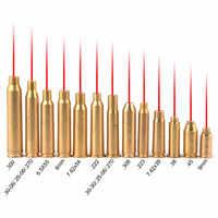 Red Dot Laser Brass Boresight CAL Cartridge Bore Sighter Scope Hunting 9mm .308 .223 6.5x55 .38 7.62x39 7.62x54 .300 7x57R B4