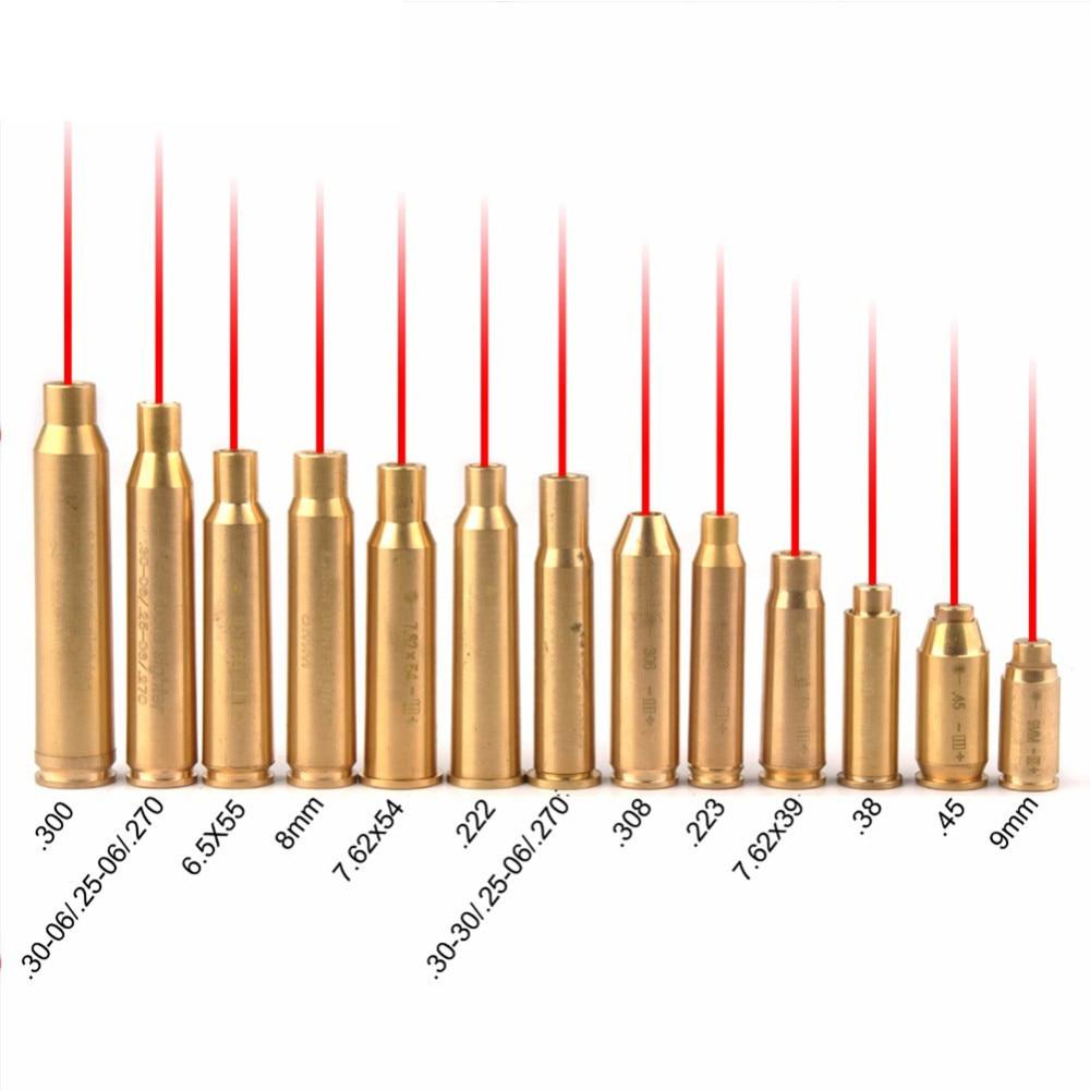 38 פליז Red Dot לייזר Boresight CAL Cartridge נשא Sighter 9mm ציד היקף 0.308 0.223 6.5x55 0.38 7.62x39 7.62x54 0.300 7x57R B4 (1)