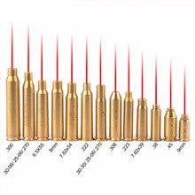 Red Dot Laser Brass Boresight CAL Cartridge Bore Sighter Scope Hunting 9mm .308 .223 6.5x55 .38 7.62x39 7.62x54 .300 7x57R B4 цена в Москве и Питере