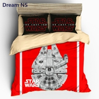 Dream NS Star Wars Bedding Set Millennium Falcon Bedclothes Outer Space Ship Duvet Cover Sets AU
