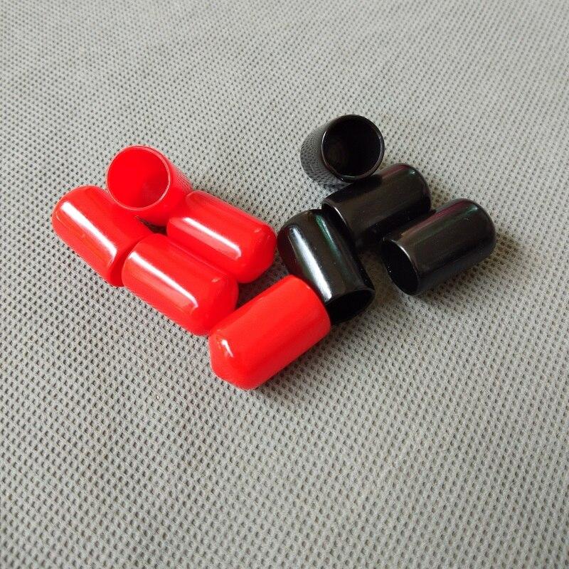 100 pcs/lot 12mm End kappe PVC Kunststoff Kabel draht gewinde ...