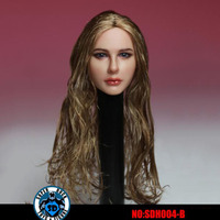 1/6 Scale Sexy long hair Girl Female Woman Lady Head Sculpt Carving Curls Head Sculpt Headplay Model for 12 Action Figure Body