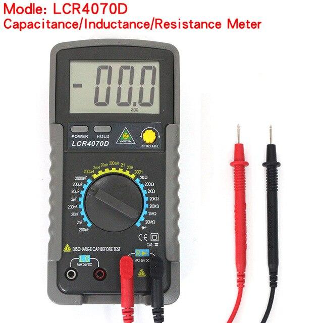 Pont numérique LCR4070D, compteur d'inductance de capacité électronique de haute précision