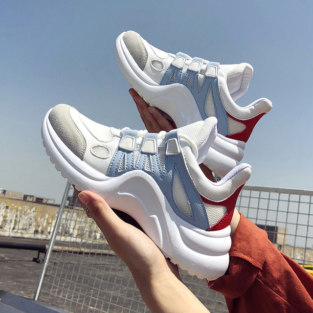 Women Shoes White Chunky Sneakers 2019