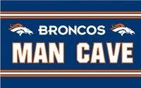 Free Shipping 3x5FT NFL Flag Denver Broncos Huge Licensed Man Cave Flag Banner 100D Digital Printing