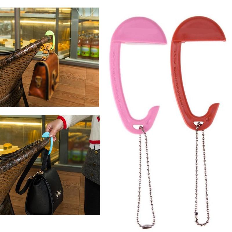Flower Plant Leaf Pink Sky Happy Table Hook Folding Bag Desk Hanger Foldable Holder