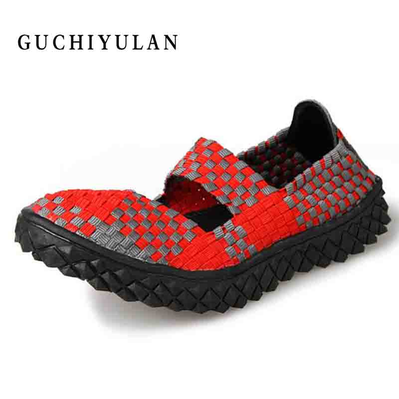 spring autumn new arrival women casual shoes women flats plus size Beach shoes hand-stitching Woven Slip On SHOES Plus Size 42