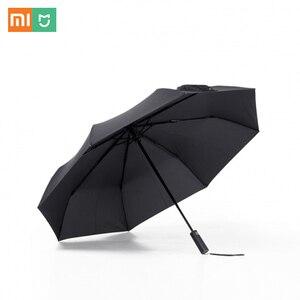 Image 1 - מקורי Xiaomi גשום מטרייה אוטומטית קיפול ופתיחה אלומיניום מטריית Windproof איש אישה עמיד למים עבור חורף קיץ