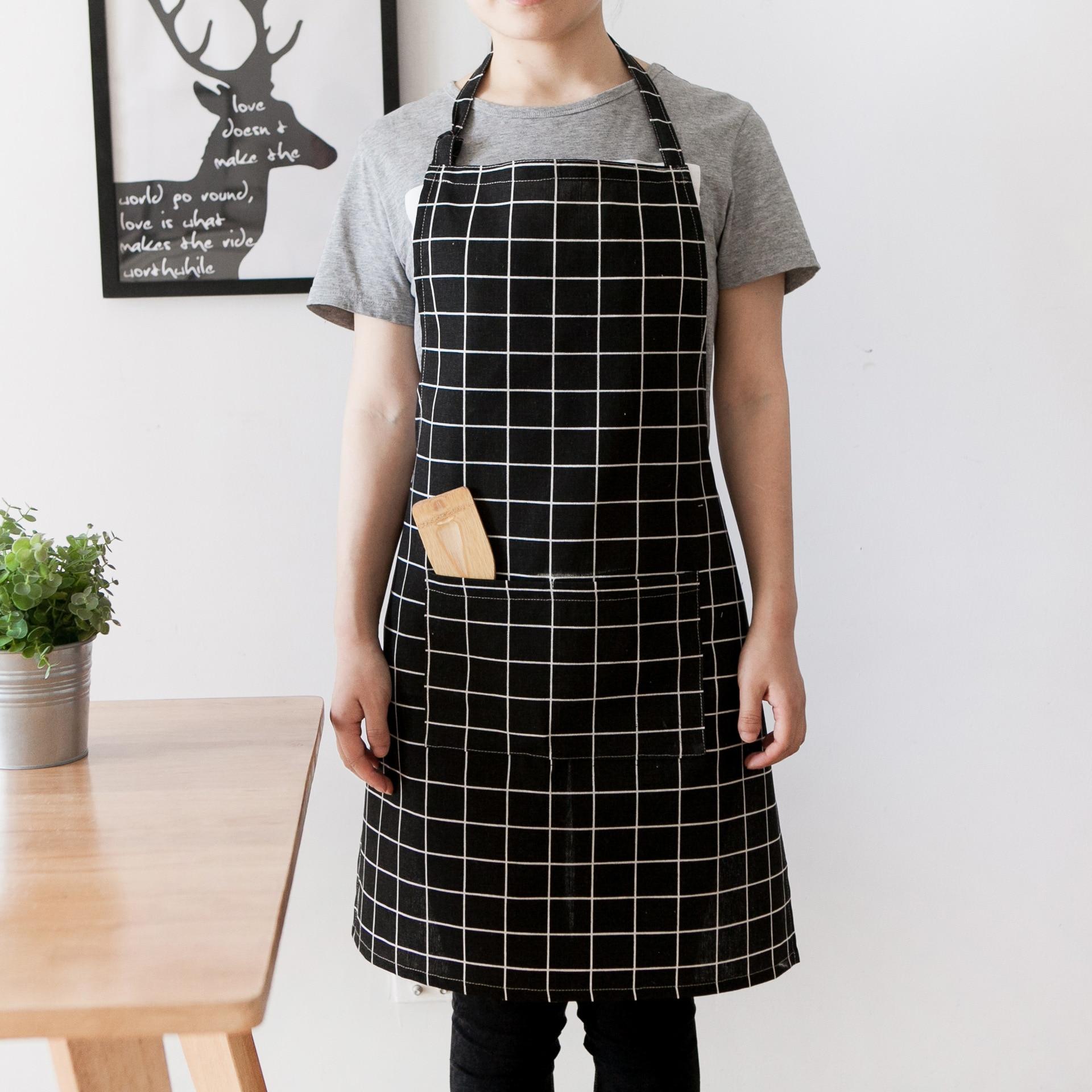 High-grade Kitchen Apron For Cooking Baking Adjustable Cotton Fashion Linen