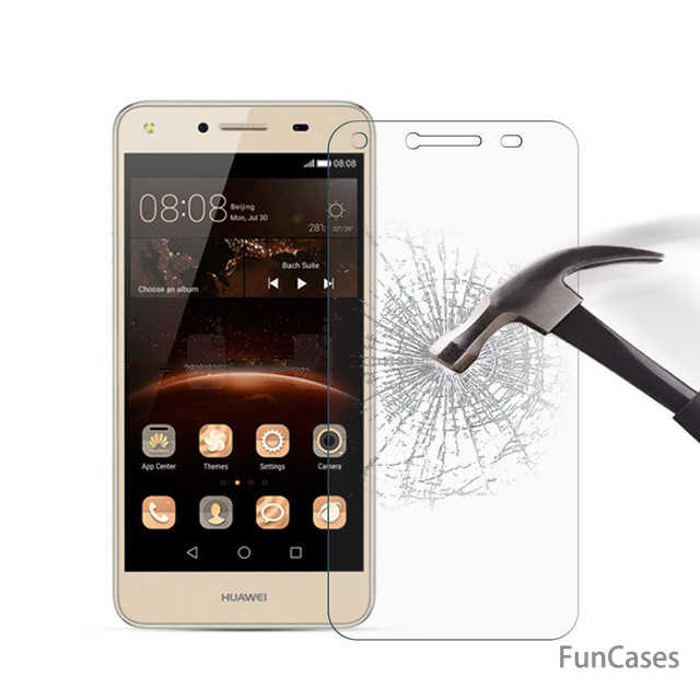 "for Huawei Y6 II Compact 5.0"" Tempered Glass Screen Protector for Y6 ll Compact 5 inch Front Clear Glass Cover Protective Film"