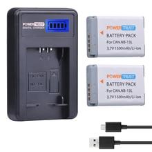 2 шт. NB-13L NB 13L NB13L Батарея + ЖК-дисплей USB Зарядное устройство для Canon PowerShot G5X G7X G9X G7 X Mark II G9 X, SX620 SX720 SX730 hs
