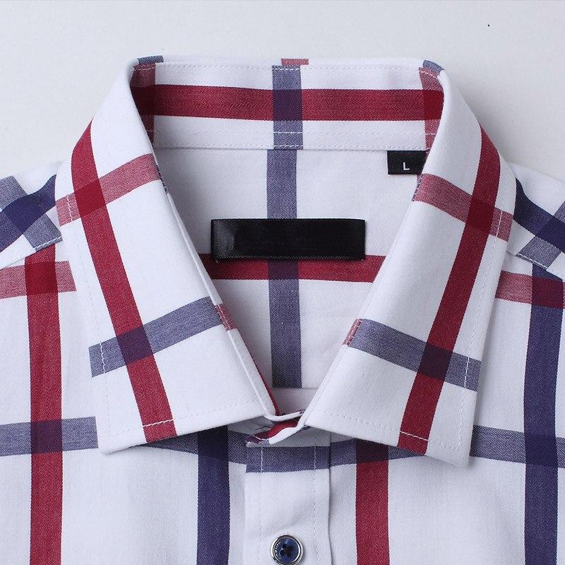 Kvaliteetne meeste ruuduline särk pikkade varrukatega puuvillane - Meeste riided - Foto 3