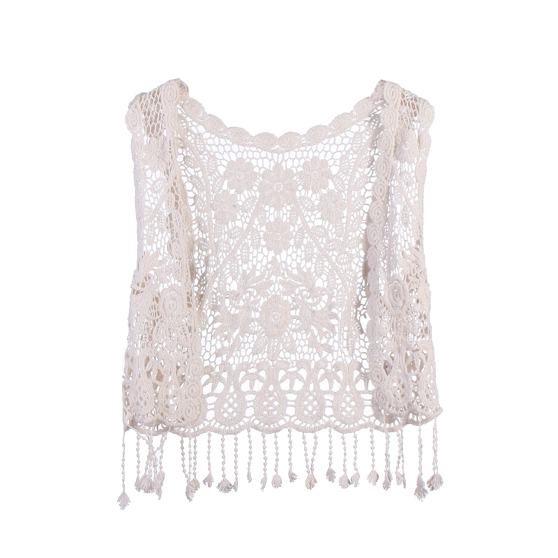 Coat Cardigan Toddler Baby-Girls Lace Casual Crochet Vest Tops Tassel Loose Kids Hollow