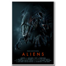 Alien Art Silk Poster Print 13x20 24x36inch Classic Science Fiction Movie Picture for Living Room Wall Decoration 002(China)