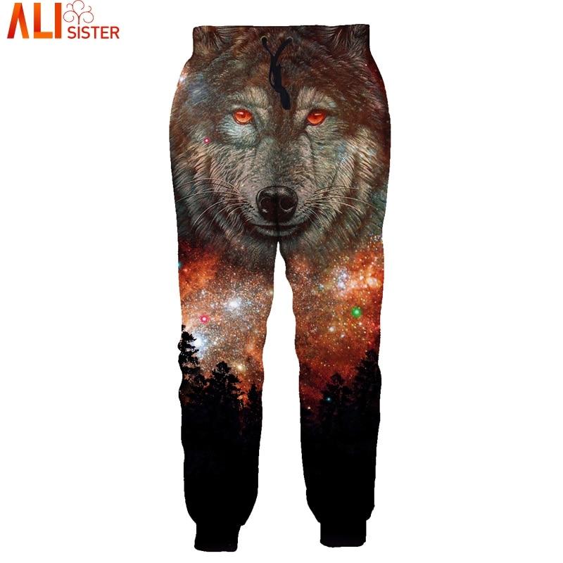 Galaxy Wolf 3d Jogginghose Alisister Unisex Harajuku Track Hosen Jogger Cargo Pants Männer Pantalon Hombre Hosen Dropship Reich Und PräChtig