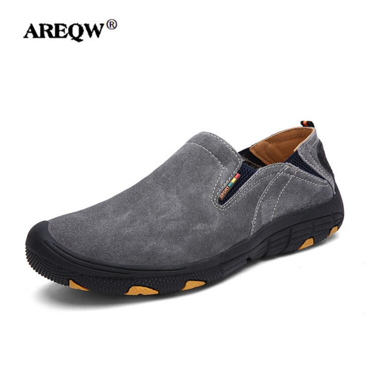 все цены на AREQW High Quality Men Shoes Casual Shoes Breathable Spring And Autumn Outdoor Non Slip casual Shoes онлайн