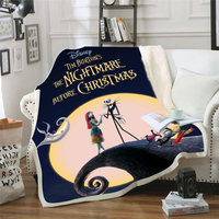 The Nightmare Before Christmas Soft Warm Coral Fleece Plush Throw Blanket Sofa Bed Knee blankets Customize Baby Child Bedspread