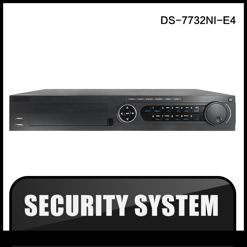 HIK  DS-7732NI-E4 original English version NVR 32ch 4SATA 4HDD ONVIF alarm no POE Network Video Recorder CCTV camera hik ds 7716ni i4 16p original updatable english version 16ch nvr 16poe interface ip camera network video 4sata hdd