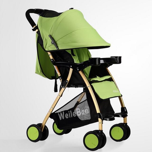 Alta Qualidade Carrinho de Bebê Carrinho de Criança Infantil À Prova de Choque Do Carro Recém-nascidos Dobráveis Carrinhos de Buggy Carrinho de Bebê Carrinho de Bebé Carrinho De Bebê