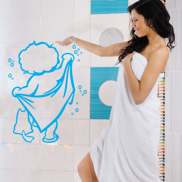 diy cute baby bath bathroom glass door stickers personalized stickers creative stickers wall. Black Bedroom Furniture Sets. Home Design Ideas