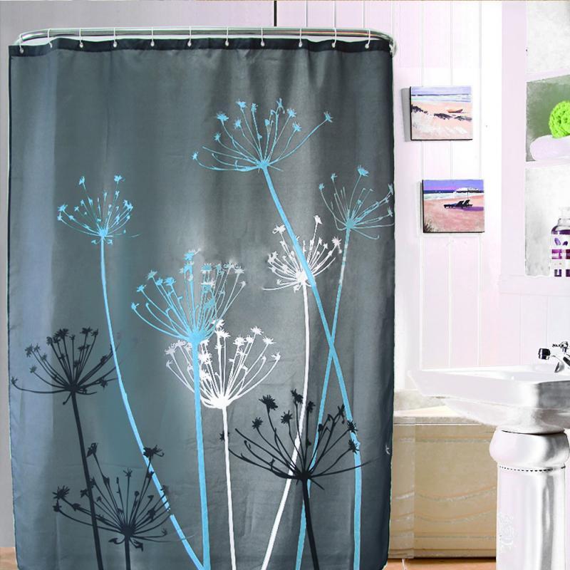 dandelion pattern waterproof polyester bathroom shower