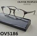 Frete grátis oliver peoples óculos vintage enquadrar ov5186 gregory peck ov 5186 armações de óculos de olho para as mulheres óculos de leitura