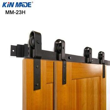 KINMADE مسار واحد تجاوز انزلاق باب الحظيرة الأجهزة عازمة شماعات تجاوز النظام