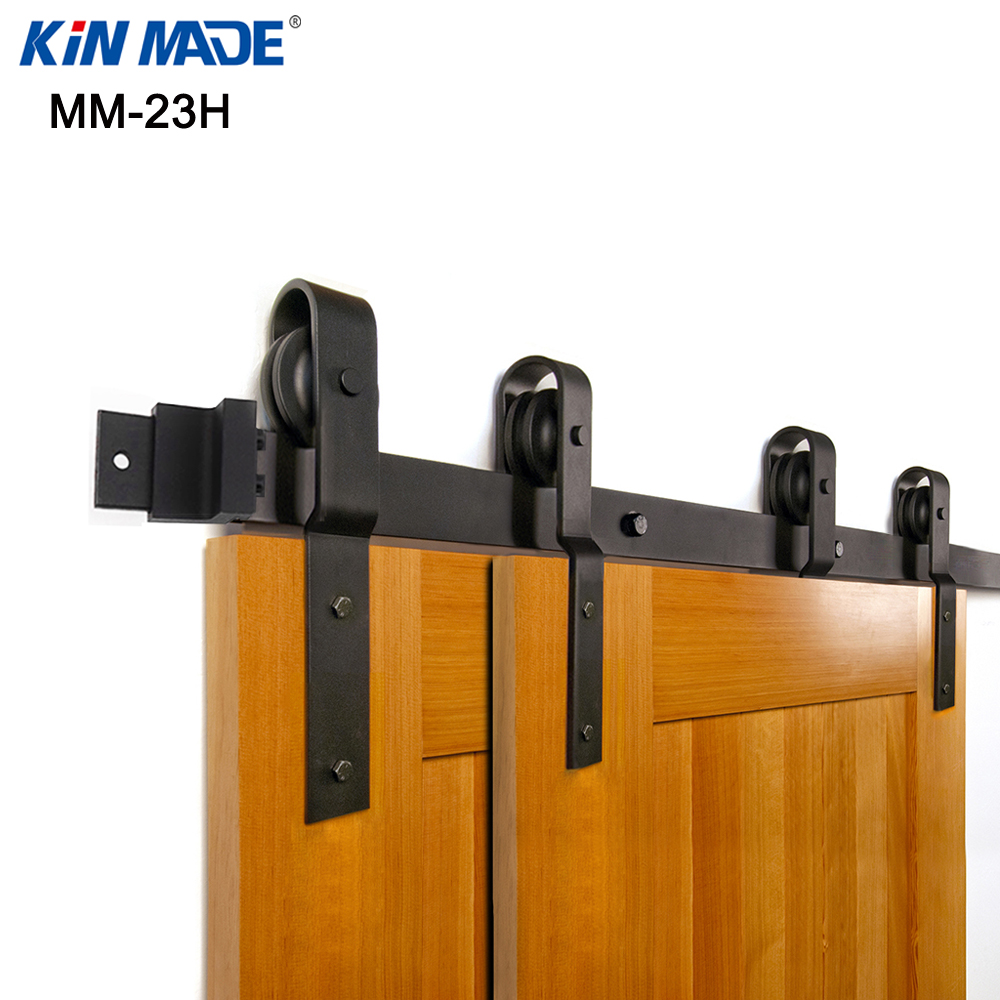 Système de contournement de cintre plié par matériel de porte coulissante de grange de contournement simple de KINMADE