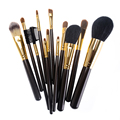 Soft Natural Hair Makeup Brush Set Professional High Quality 12 pcs Makeup Brushes Powder Contour Makeup Tools Kit Cosmetic Set