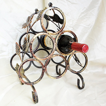 Metal Wine Rack retro fashion vintage wine stand 6 bottles metal Wine holder