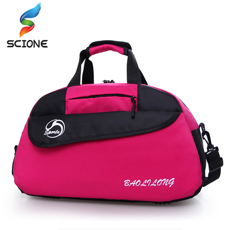 2018 Nylon Sport Gym Bag Outdoor Waterproof women Handbag Fitness Bag For Men Shoulder Training Camping Female Yoga Duffel Bag yoga fitness bag waterproof nylon training shoulder crossbody sport bag for women fitness travel duffel clothes gym bags xa55wa