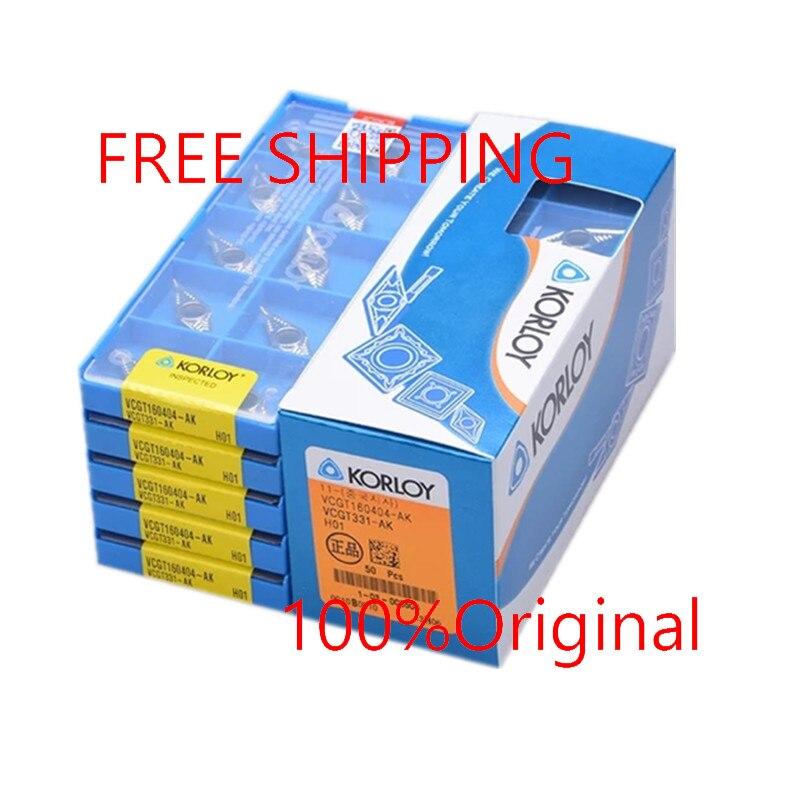 NEW Korloy VCGT160404-AK VCGT331-AK H01 CNC Carbide Insert 10pcs