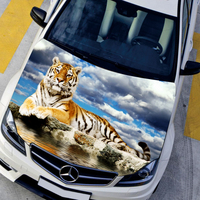 Car styling sticker car covers hood protection film HD Animals Tiger Exterior accessories stickers Car accessories,135*150cm