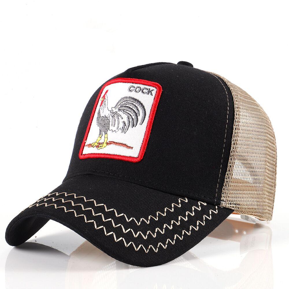 Tier Stickerei Baseball-Cap Unisex Paar Sommer Mesh Pferdeschwanz Atmungsaktive Mütze Sport Trucker Dad Hip Hop Streetwear Kappe Hut