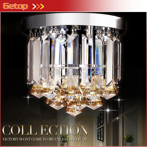Modern LED Aisle Crystal Lamp Entrance Light Hallway LED Ceiling Lamp Dining Hall Corridor Light D23 x H21cm Crystal Lighting ceiling light lamp for entrance led
