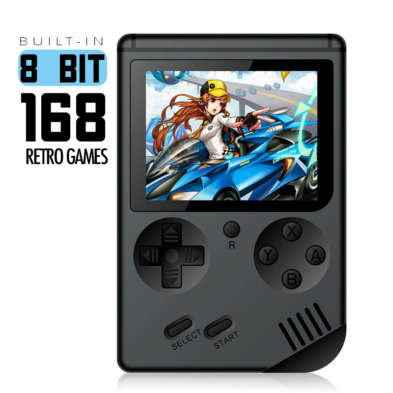 Coolbaby Retro Portable Mini Handheld Game Console 8-Bit 2.5/3.0 Inch Color LCD Kids  Game Player Built-in 129/168 games