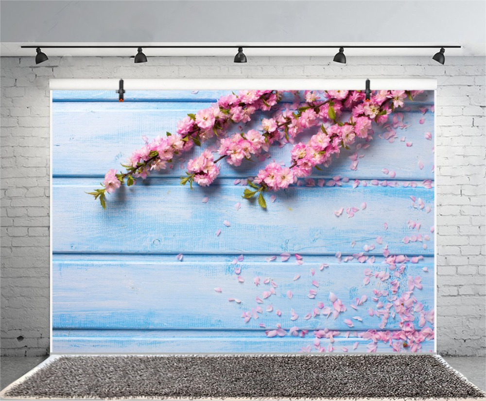 Laeacco Wooden Boards Flowers Petal Wedding Scene Photography Backgrounds Customized Photographic Backdrops For Photo Studio in Background from Consumer Electronics