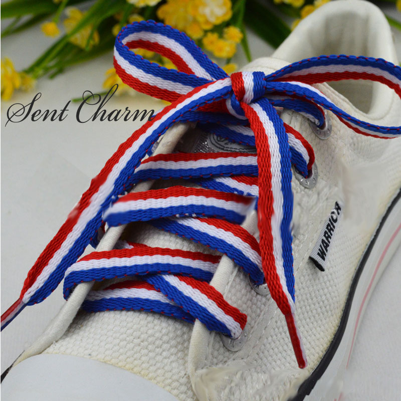 SENTCHARM 3pairs/Pack Mixed Color Striped Shoestrings Fashionable Colorful Shoelaces For Casual Shoes 115cm/45inch mixed ring pack 10pcs