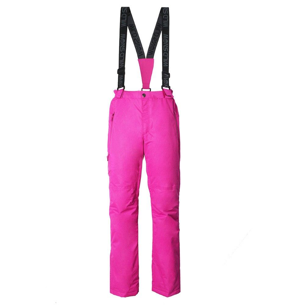 Pantalon de ski professionnel imperméable coupe-vent pour femme taille élastique épaisse pantalon de patinage de Snowboard chaud pour femme - 3