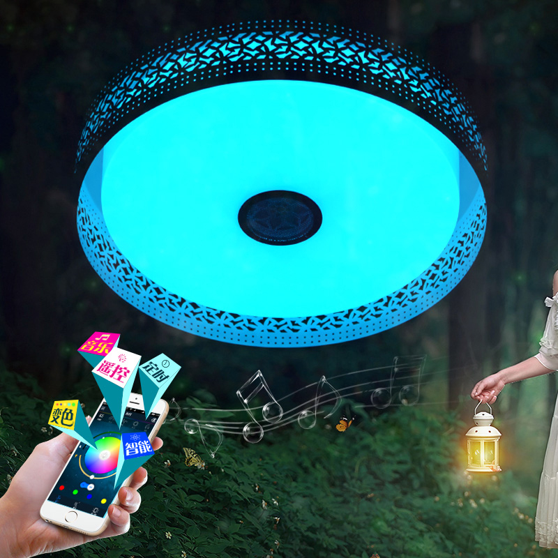 Smart Intelligent multi color chandelier light App control dimmable modern Led chandeliers lamp for 10 -15 Square meters
