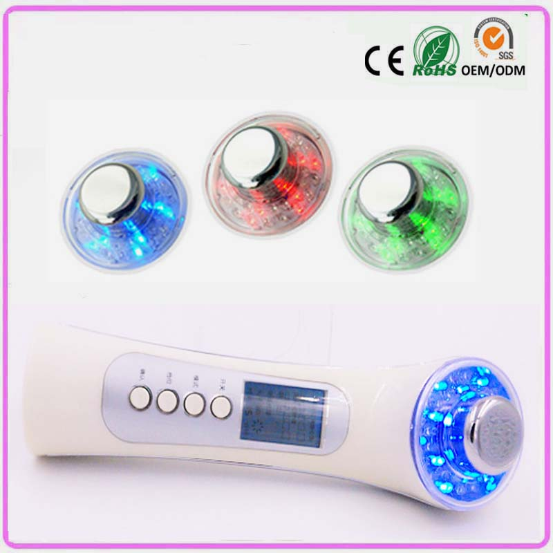 Galvanic Photon Ultrasonic Ion Face Skin Pores Cleansing Skin Rejuvenation Lightening Firming Facial Beauty Massager Machine rechargeable pdt heating led photon bio light therapy skin care facial rejuvenation firming face beauty massager machine