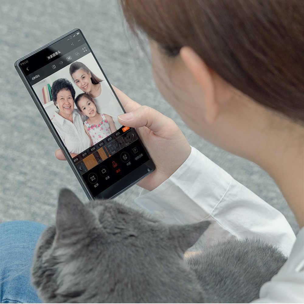 Original Xiaomi Mijia 1080P inteligente portátil Web IP Cam Bluetooth Hub 130 grado 2,4G/5G Wi-Fi visión nocturna TF + NAS micrófono altavoz
