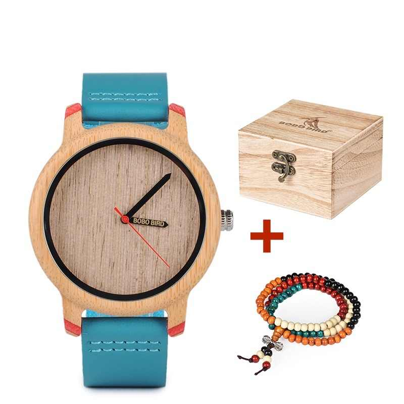 ed5b4b61042 BOBO BIRD Timepieces Bamboo Watches for Men and Women Luxury Quartz  Wristwatches with Leather Straps In