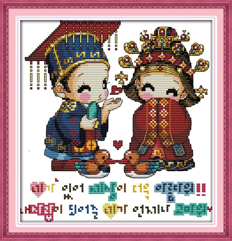 Вышивка корейских наборов