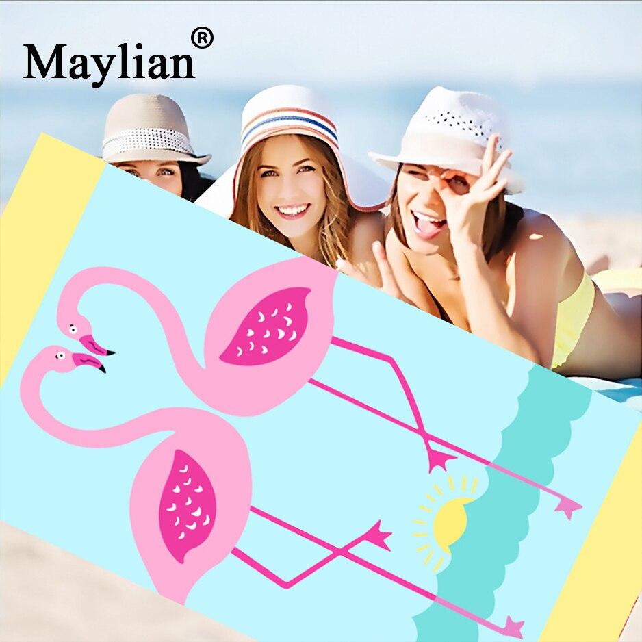 21 Kleuren Mooie Cartoon Microfiber Rechthoek Strandlaken Badhanddoek Yoga Mat Grote Voor Volwassenen Kids Toalla Print Flamingo T265 Chinese Smaken Bezitten