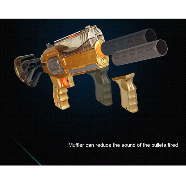 big nerf gun thompson paintball ball Automatic water bullet 1200 bursts gun  gold Children Wargame toys