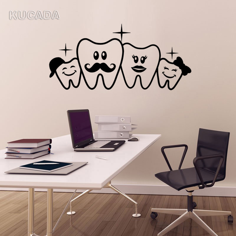 Vinyl Wall Decal Sticker Dental Office Dentist Wall Sticker Teeth Dental Doctor Decor Unique Gift DIY Home Decor Mural JG4149(China)