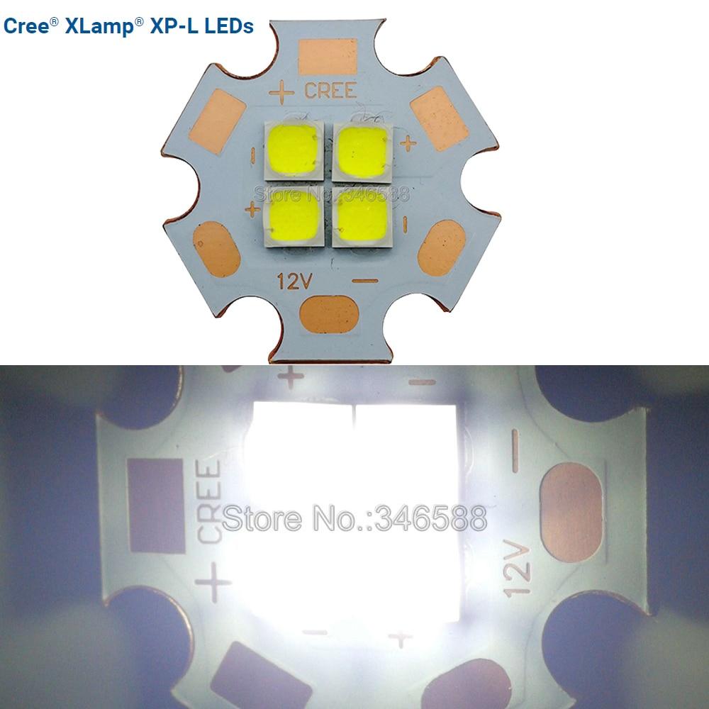 цена на Cree XPL XP-L 4Chips 36W 3V 6V 12V High Power LED Emitter instead of XHP70 SST-90 Cool White Warm White Neutral White 20mm PCB