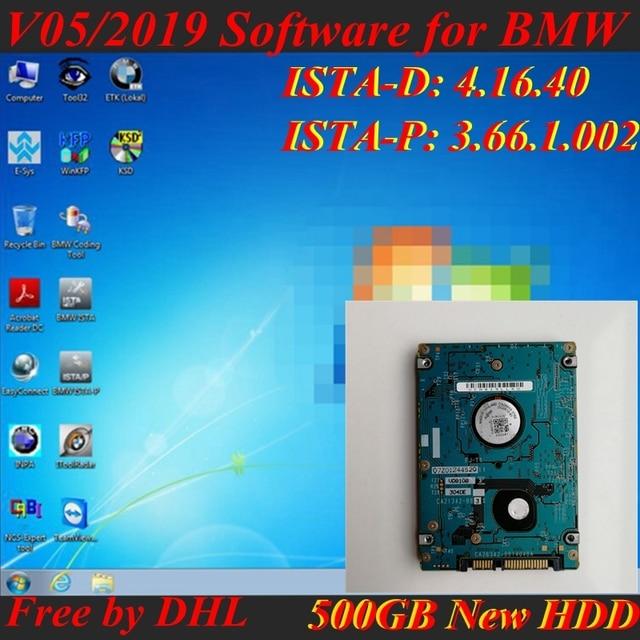 Para Software BMW Icom Próximo A2 + B + C V05.2019 ISTA-D 4.16.40 P 3.66.1 500 GB HDD win7 64bit com o Modo Expert A2 Wi-fi icom a + B + C